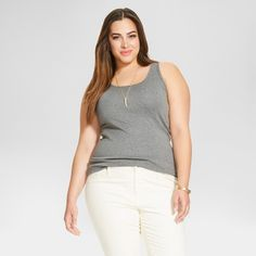 6c0699d0d12ed Form flattering and fun the Women s Plus Size Tank Top - Ava and Viv is a