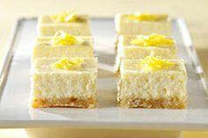 limoncello cheesecake squares by Giada