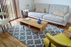 Mid Century Modern Inspired Coffee Table in Solid Cherry