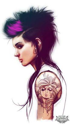 tatuajes la chica del dragon tatuado