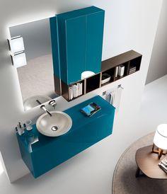 Font Collection. The #bathroom according to Scavolini. #BluScavolini
