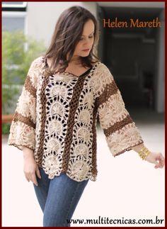 Crochê de grampo Hairpin lace/ Horquilla  receita gratuita no site free pattern