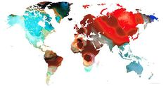 Browse through images in Sharon Cummings' Colorful Maps collection. Colorful World and United States Maps - Buy Original Abstract Prints by Sharon Cummings, Fine Artist. From Original Paintings and Designs. Colorful Abstract Art, Abstract Wall Art, Canvas Art Prints, Fine Art Prints, Map Painting, Buy Art Online, Map Art, Fine Art America, Thing 1
