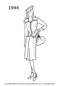 1944 suit silhouet