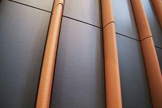 Fachada ventilada con celosía. Ventilated facade with sunscreen.