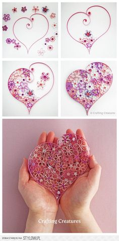Coeur en papier roulé