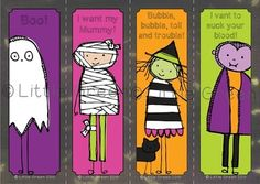 {FREE} Spooky bookmarks for Halloween