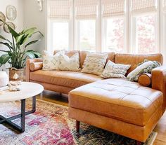 Family Room Sectional KINSEY Caramel right-facing Leather sectional sofa Sectional Sofa With Recliner, Leather Sectional Sofas, Living Room Sectional, Brown Sectional, Sleeper Sofas, Leather Sofa Decor, Brown Leather Sectionals, Leather Couch Decorating, Best Leather Sofa
