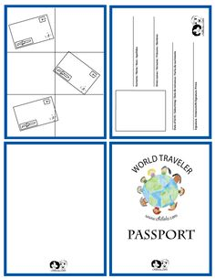 passport template - passport for kids -  passport - www.chillola.com