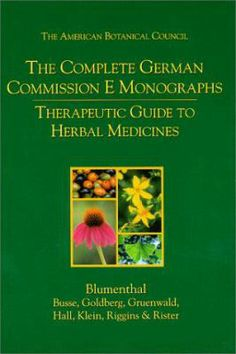 Therapeutic guide to herbal medicines / developed by a special expert committee of the German Federal Institute for Drugs and Medical Devices ; senior editor: Mark Blumenthal ; associate editors: Werner R. Busse ... [et al.]. Austin : American Botanical Council ; Boston : Integrative Medicine Communications, 1998. [Febrer 2014] #novetatstorribera #CRAIUB