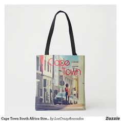 Cape Town South Africa Street View Cityscape Tote Bag