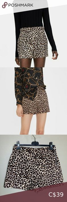 Zara Woman leopard high waisted shorts size medium Brand new Zara Woman leopard shorts High waisted  Pockets on the front Measurements in photos Side zipper closure Size medium Zara Shorts Leopard Shorts, Zara Shorts, Plus Fashion, Fashion Tips, Fashion Trends, Zara Women, High Waisted Shorts, Sequin Skirt, Brand New