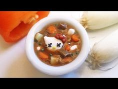 Halloween Hello Kitty Stew Polymer Clay Tutorial / Arcilla Polimérica - YouTube Uses liquid sculpy and brown pastel for broth