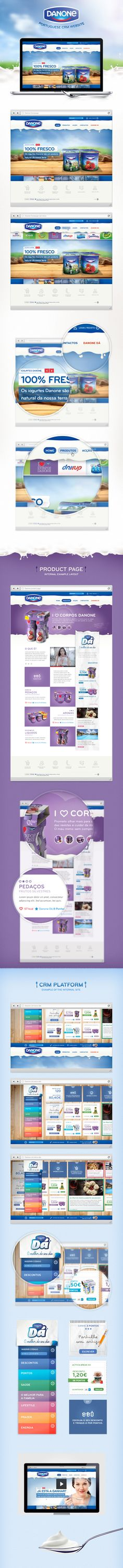 I love how the layout changes between sections Danone Portuguese Website / Hugo Miguel Sousa.