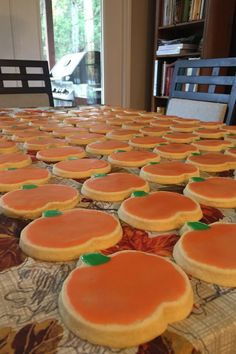 "Sugar Cookie Icing Recipe - - ""This icing dries hard and shiny and the colors stay bright. Choose as many different food colorings as you desire. Pumpkin Sugar Cookies, Sugar Cookie Icing, Sugar Cookies Recipe, Cupcake Cookies, Cookie Recipes, Cookie Frosting, Cupcakes, Halloween Cookies Decorated, Cookies"