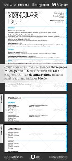 Snowball Resume Template Adobe indesign cs5, Adobe indesign and - resume templates for indesign