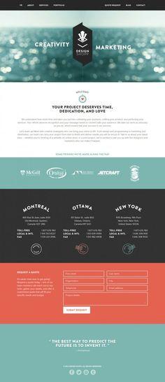 Montreal Web Design Company - Design Shopp - Webdesign inspiration www.niceoneilike.com