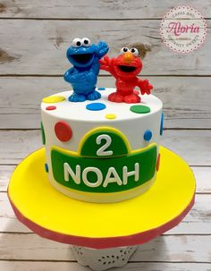 Sesame Street cake, birthday cake, Elmo, Cookie Monster
