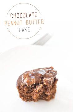 Chocolate Cake with a totally unprocessed Peanut Butter Cup Icing!