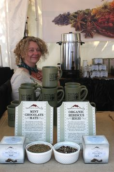 Sampling tea at the Bite of Oregon!
