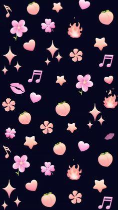 wallpers in 2019 iphone wallpaper, emoji wallpaper Emoji Wallpaper Iphone, Flower Phone Wallpaper, Cute Wallpaper For Phone, Cute Disney Wallpaper, Kawaii Wallpaper, Cellphone Wallpaper, Pink Wallpaper, Aesthetic Iphone Wallpaper, Screen Wallpaper