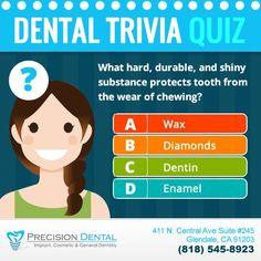Guess what's the correct answer! Here's another hint: it protects the crown. #DentalQuiz #glendale #glendaleca #glendaledentist #california