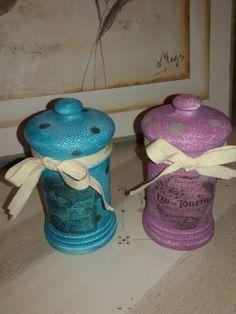 Tarritos de porcelana,  despues del tuneo...