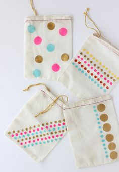 DIY: Polka-Dot Party Favor Bags by AliceandLois for Julep