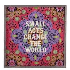 Small Acts Wood Wall Art