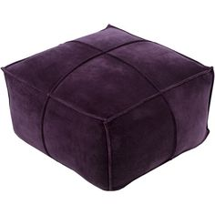 Perfect as an extra seat for guests in the living room or parlor, this cotton velvet pouf lends a simply chic touch to any space.   Prod...