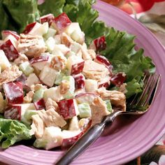 A Meal Plan Day Lunch – To make a chicken salad, toss 4 ounces shredded skinless roast chicken breast with cup sliced red grapes, 1 tablespoon slivered almonds, 1 tablespoon light mayonnaise and 1 tablespoon fat-free sour cream. Low Calorie Lunches, 200 Calorie Meals, Chicken Curry Salad, Chicken Salad Recipes, Healthy Chicken, Meals Under 400 Calories, Plats Weight Watchers, 1200 Calorie Diet Plan, Diet Recipes