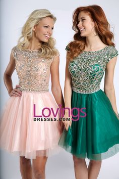 2015 New Arrival Homecoming Dresses A Line Scoop Short/Mini Tulle With Shining Beadings US$ 179.99 LDPZ28S2MZ - lovingsdresses.com