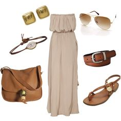brown by peacelovenfashion on Polyvore featuring mode, Acne Studios, Mulberry, NV London Calcutta, Gurhan, Me&Ro, Ray-Ban, FOSSIL, maxi dresses and sandals