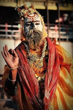 Sadhu in Varanasi, India Varanasi, Sadhus India, Living In Jamaica, Agra, Shiva, Indian Colours, Hindus, Taj Mahal, World Of Color