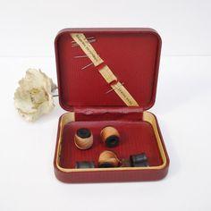 Vintage Sewing Kit Sewing Kit Box Sewing Kit by AlegriaCollection, $25.00