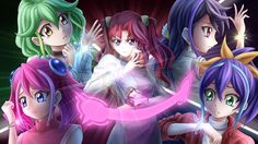 Ray, Yuzu, Serena, Rin, Ruri