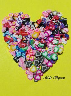 fettine fimo CUORE 100 pz, by Mila Bijoux, 0,99 € su misshobby.com