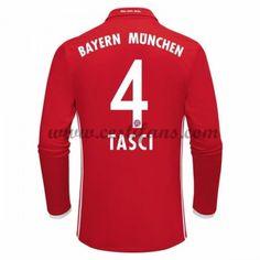 Bayern Munich Fotbalové Dresy 2016-17 Tasci 4 Domáci Dres Dlouhým Rukávem
