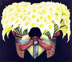 Flower Vendor ---------by Diego Rivera