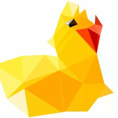 Here is a rubber duck image that I changed using DMesh  #art #changed #DMesh #rubberduck #duck #different #spiky #yellow #orange #image