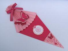 zuckertüten-karte mit der tannenbaum stanze von stampin up, Einladung