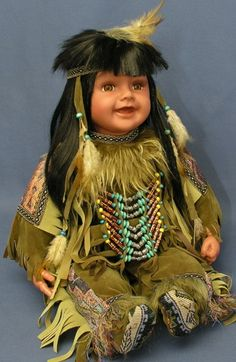 vinyl indian dolls