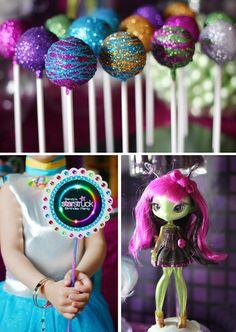 Sparkling Planet cake pops