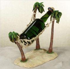 Palm Tree Hammock Wine Bottle Holder