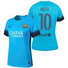 Lionel Messi Women s Third Soccer Jersey 15 16 Barcelona  10 8d99656a08