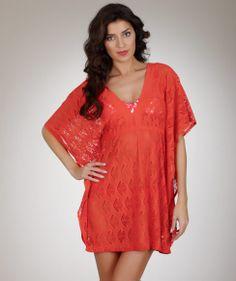 Athena Monaco Crochet Tunic Cover Up
