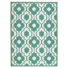 Kaleidoscope Outdoor Area Rug     FRONTGATE $103- $343          GORGEOUS TURQ AND GREEN