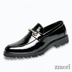 Black Blue Patent Gold Punk Rock Mens Loafers Flats Dress Shoes, Shoe Width: MediumUpper Material: Faux Leather InnerDecorations: Faux Leather and Rubber Sole Loafers Men, Loafer Shoes, Men's Shoes, Fashion Boots, Mens Fashion, Cuir Nappa, Flat Dress Shoes, Flat Boots, Moda Masculina