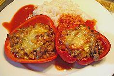 Gefüllte Paprika mit Hackfleisch