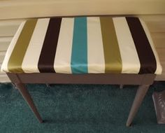 """piano bench turned patio bench in Rustoluem's American Accents paint in """"London Grey"""""""